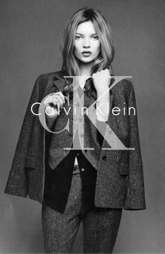 Iconic Calvin campaign with Kate Moss