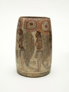 Vessel Depicting a Procession of Warriors  Guatemala, Maya, AD 600-900