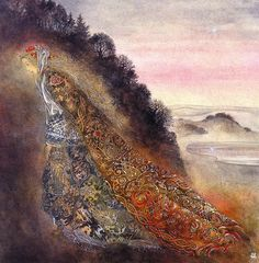 Sulamith Wülfing [1901-1989] | Sulamith Wülfing was a German painter and illustrator. Her ethereal, enigmatic works depict fairy tales or mystical subjects.Born in Elberfeld, Rhine Province to Theosophist parents Karl and Hedwig Wülfing, as a child Sulamith had visions of angels, fairies, gnomes, and nature spirits. She first began drawing these creatures at the age of four. The visions continued throughout her life, and directly inspired her paintings.