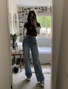 Indie Outfits, Teen Fashion Outfits, Retro Outfits, Vintage Outfits, Grunge Outfits, Hipster Style Outfits, Hipster School Outfits, 2000s Fashion, Tomboy Fashion