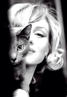 Marilyn Monroe & het cat Mitsou