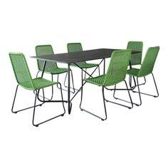 Gartenset-Gartenmoebel-Martinique-Green-Rope-6-Stuhle-Tisch-exclusiv-gruen