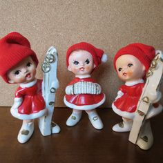 Vintage Pixie Fairy Elf Girl Christmas Ceramic by mshedgehog, $25.00