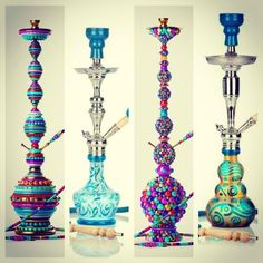 Pretty hookahs!  Come to Lux Lounge in West Bloomfield, MI to relax with friends at a premiere hookah lounge in an upscale atmosphere!  Call (248) 661-1300 or visit www.luxloungewb.com for more information!