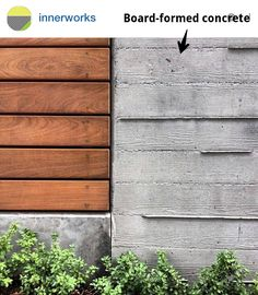 Materials: Board-formed concrete cladding obsessed with this type of material choice Concrete Cladding, Concrete Retaining Walls, Concrete Wood, Concrete Blocks, Concrete Fence Wall, Concrete Architecture, Architecture Details, Board Formed Concrete, Estilo Interior