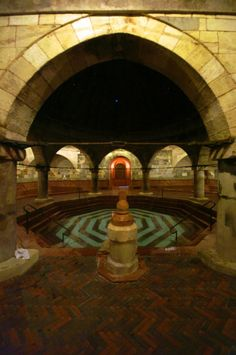 The Rudas Bath features striking examples of Turkish architecture, like this sunken octagonal pool.