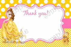 9 best beauty and the beast party princess belle birthday party belle invitation belle party belle birthday party invitation belle thank you card filmwisefo