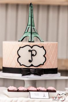 "Photo 6 of 20: Parisian, French, Paris, Pink, Pink and black / Baby Shower/Sip & See ""Bebe Prepetit Soiree"" 