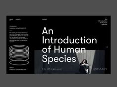 An Introduction of Human Species by Christian Dulay Website Design Layout, Web Layout, Layout Design, Minimal Web Design, Graphic Design, Resume Design, Brochure Design, Book Design, App Design
