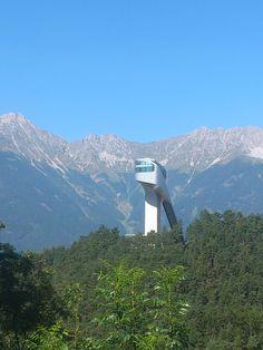 #Innsbruck`s spectactular ski jump designed by Star Architect Zaha Hadid