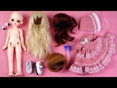 ★구체관절인형 봄아트돌 봄이 풀셋 개봉기/옷입히기/유딩이★Ball Jointed Doll BOMI White Baby Full Set Unboxing/Doll Dress Up - YouTube
