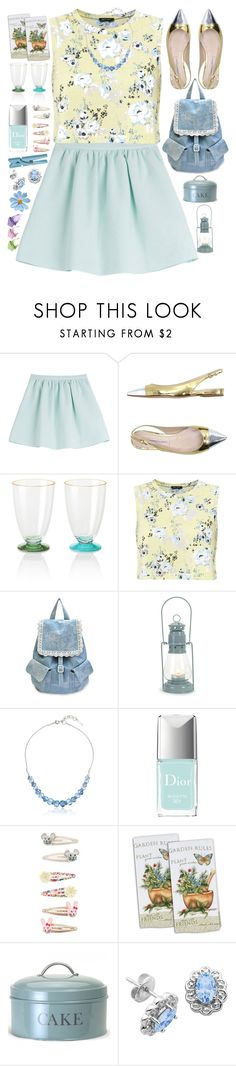 """""""Garden Party"""" by grozdana-v ❤ liked on Polyvore featuring Tara Jarmon, Roberto Festa, Kate Spade, Garden Trading, Nine West, Christian Dior, Accessorize, Paul & Joe and Lord & Taylor"""