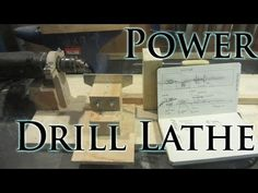 How To Make a Power Drill Lathe - YouTube
