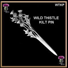 Wild Thistle Scottish Kilt Pin