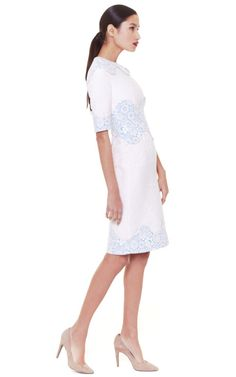 Scallop Waist Shift Dress by Thom Browne Now Available on Moda Operandi