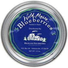 Highland Sugarworks Wild Maine Blueberries Packed In Water, 3.5-Ounce Tins (Pack of 24) > Check this awesome item pin  : Fresh Groceries