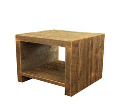 Reclaimed Wood Side Table / Night Stand