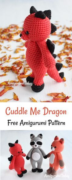 This little crochet dragon is definitely not scary, but awfully cute :) The Cuddle Me Dragon Pattern has easy to follow instructions as well as plenty of photos to help you on your way. Choose your custom colors and you will have a most dashing dragon indeed!