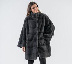 f2856536bd18 Graphite Mink Fur Coat.  graphite  mink  fur  jacket  real  . Haute Acorn