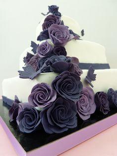 Hochzeitstorte lila 4