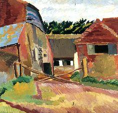 Farm Buildings at Charleston, East Sussex / Duncan Grant - circa 1920-1929