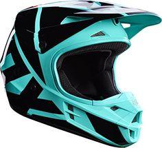Fox Racing Adult V1 RACE 2017 Motocross Helmet Green LARGE