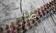 18k Gold Tourmaline Necklace by SirensandAngels on Etsy, $7500.00