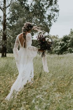 boho wedding dress inspiration | Crochet wedding dress | fabmood.com #weddingdress #bohogown #bohobride #bohemianweddingdress
