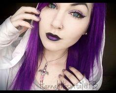 Hannah hospitals purple goth colour