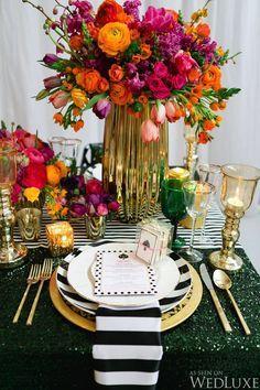 New Bridal Shower Invites Kate Spade Wedding Inspiration Ideas Colorful Centerpieces, Wedding Centerpieces, Wedding Table, Wedding Decorations, Table Decorations, Centrepieces, Wedding Cakes, Shower Centerpieces, Centerpiece Ideas