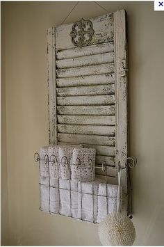 Shutter Towel Holder