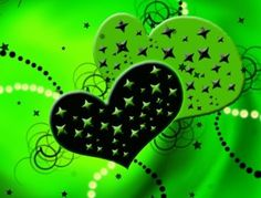 GREEN AND BLACK HEARTS GIF, IPHONE WALLPAPER BACKGROUND ...