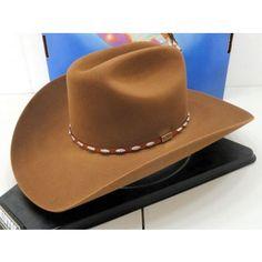 d4395fff16d Resistol Cowboy Hat 6X Beaver Fur Chestnut Silver Eagle George Strait