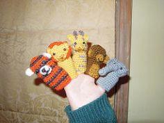 Zoo Finger Puppets pattern by Maggie Vassie
