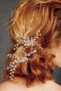 髪飾り アクセサリー 水晶 ウェデイング小物 花嫁 SAH031