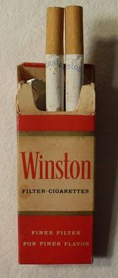 "One of the 1950s Winston ""G.I. Packs"" of 4 cigarettes made to be strapped inside the bands of soldiers' helmets. If the war didn't kill them, their cigarettes did!"