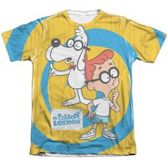 """Checkout our #LicensedGear products FREE SHIPPING + 10% OFF Coupon Code """"Official"""" Mr Peabody & Sherman/explanation-adult Poly/cotton S/s T- Shirt - Mr Peabody & Sherman/explanation-adult Poly/cotton S/s T- Shirt - Price: $24.99. Buy now at https://officiallylicensedgear.com/mr-peabody-sherman-explanation-adult-poly-cotton-s-shirt-licensed"""