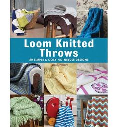 In Loom Knitted Throws, you will find a collection of 20 designs that will ent… – Knitting patterns, knitting designs, knitting for beginners. Loom Knitting Blanket, Loom Blanket, Loom Knitting Stitches, Knifty Knitter, Loom Knitting Projects, Knitting Ideas, Crochet Projects, Loom Knitting For Beginners, Round Loom