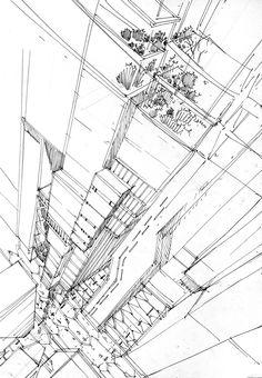 Future city - sketches by Artur Stępniak
