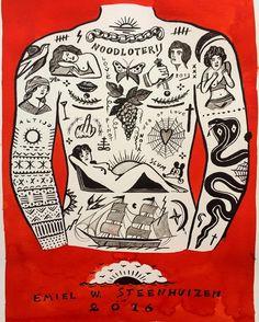 Bekijk deze Instagram-foto van @emiel_order • 303 vind-ik-leuks Tatto For Men, Tatto Man, Russian Criminal Tattoo, Vintage Tattoo Art, Old Scool, Body Template, French Tattoo, Traditional Tattoo Design, Masonic Symbols
