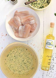 Przepis na ryba smażona w chrupiącym cieście z sosem ogórkowym - MniamMniam.com Ethnic Recipes, Food, Essen, Meals, Yemek, Eten