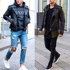 """Left or right? Follow @MenStreetPost for Latest Street Style Daily!!!! @MenStreetPost @MenStreetPost  @MenStreetPost."""