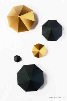 DIY Paper Diamonds Tutorial   HungryHeart.se