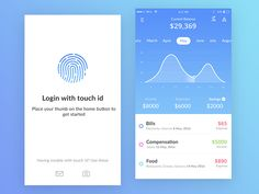 banking app Bank app mock ups (Current balance + Login) by Prakhar Neel Sharma on Dribbble Login Page Design, App Ui Design, Mobile App Design, Flat Design, Design Design, Iphone Ui, Mobile App Ui, Ui Design Inspiration, Layout