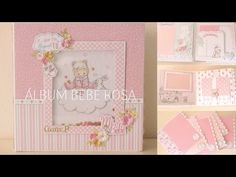 Álbum bebé para ciara – ilusiones de Niny Baby Album, Mini Scrapbook Albums, Scrapbooks, Baby Shower, Diy Crafts, Frame, Bb, Ideas Para, Youtube