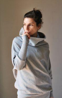 Grey Japanese Sleeves Winter sweater /  Fall fashion