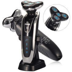 Strong Shaver RSCX-8871 4D System Aquatec Wet and Dry Rechargeable Electric Shaver - Black + Sliver