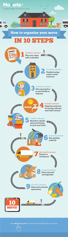 Infographic for Moveria More Words, Life Hacks, Bring It On, How To Remove, Google, Moving Home Checklist, 3 Friends, Infographic, Tips