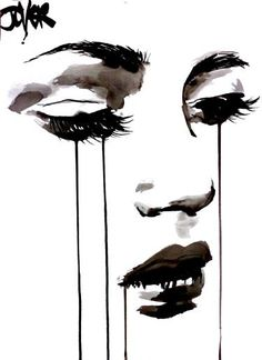 "Saatchi Art Artist Loui Jover; Drawing, ""untitled face #5"" #art"