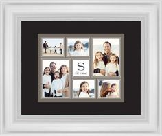 Classic Monogram Framed Print, White, Classic, None, Black, Single piece, 8 x 10 inches, Brown